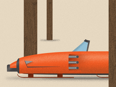 Bobsled Indianapolis bobsled orange illustration textures lincoln indianapolis