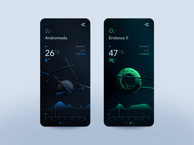 ❍LD UNIVERSE concept abstract still life photography weather app app design product design ui moon cosmos