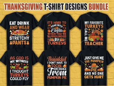 Thanksgiving T Shirt Design Bundle pumkin t-shirt design template custom t-shirts animation graphic design pumkin pie