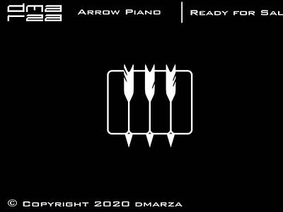 Arrow Piano Logo symbol vector minimal logodesign logo icon graphic design design branding art