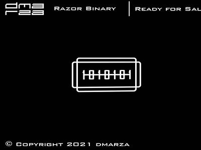 Razor Binary Number Logo typography vector minimal logodesign logo icon graphic design design branding art