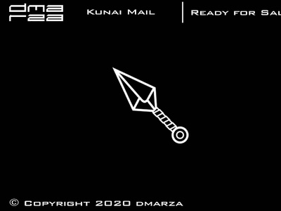 Kunai Mail Logo symbol vector minimal logodesign logo icon graphic design design branding art