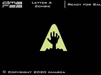 Letter A Zombie Logo typography vector minimal logodesign logo icon graphic design design branding art