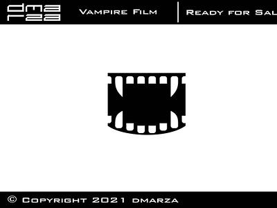 Vampire Film Logo symbol vector minimal logodesign logo icon graphic design design branding art