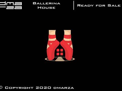 House Ballerina Logo symbol vector minimal logodesign logo icon graphic design design branding art