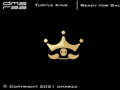Turtle King Logo app symbol vector minimal logo icon graphic design design branding logodesign art