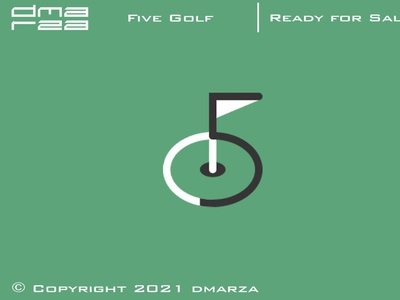 Five Golf Logo typography symbol vector minimal logodesign logo icon graphic design design branding art