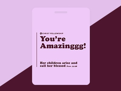 Volunteer tags for Mother's Day