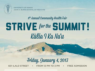 JABSOM Health Fair print flyer poster summit haleakala maui hawaii health jabsom