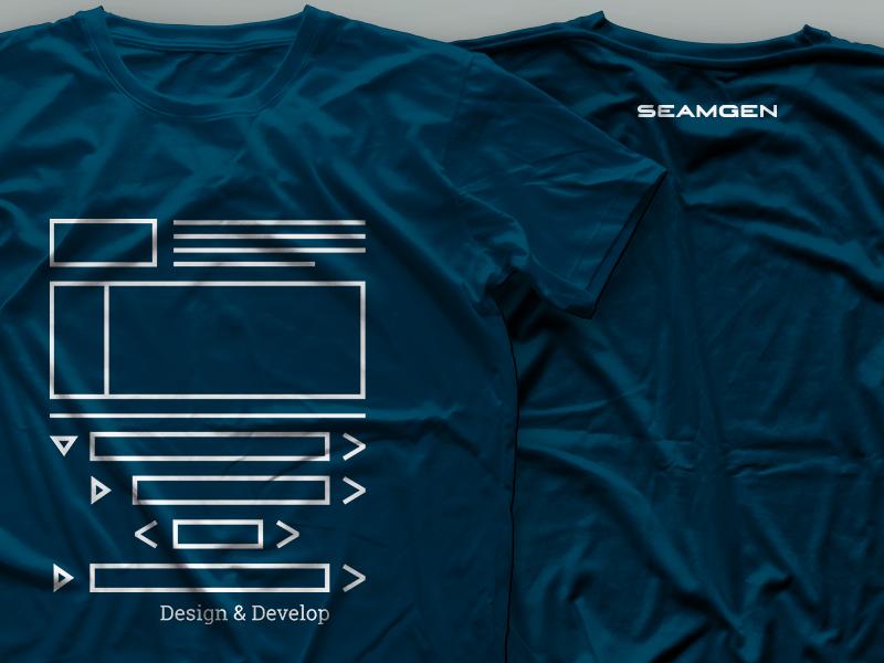 Design & Develop Tee tshirt design develop wireframe wirecode