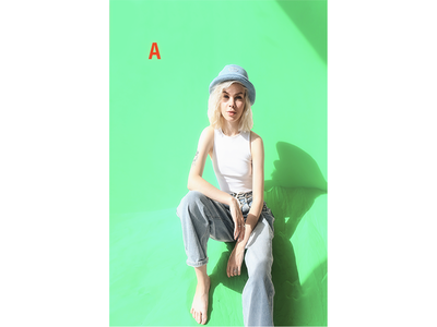 Retouching work on Girl with Hat image retouching retouch retouching