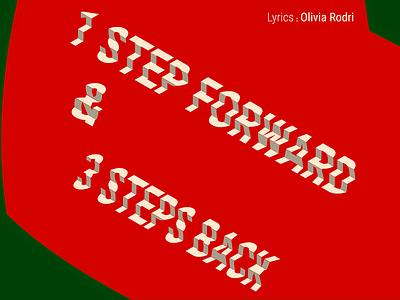 1 Step Forward & 3 Steps Back - Typographic Design - W. Warm-Up illustration design