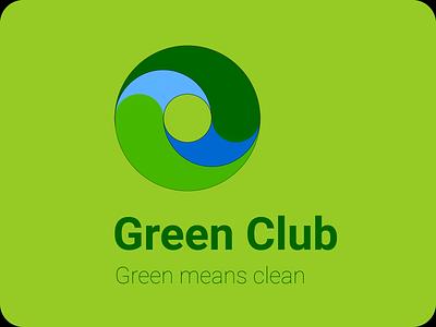 Environment Club Logo design illustration branding logo