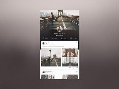 User Profile Social Network bruno la versa kits mockup free galley photos social profile user