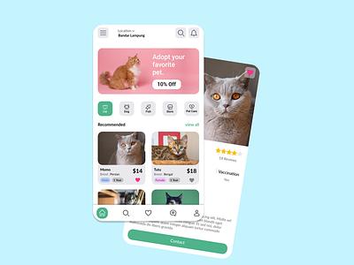 Pet Adoption ux vector ui typography logo illustration icon design branding app