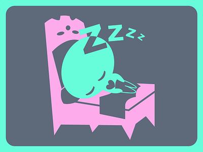 Sleeping sketch cute kawaii emote emoticon vector freehand illustration kids childrens colorful flat illustrator graphic design