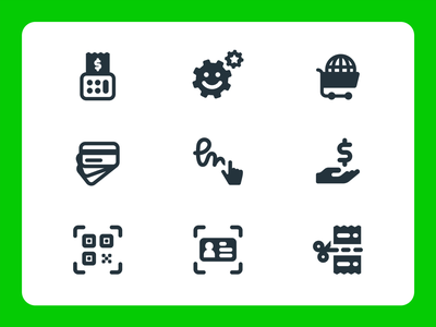 Payment Icons vector fintech corporative startup payments pay retail fill rounded pictograms icons features icon designer graphic designer ui illustration icon design branding identity graphic design