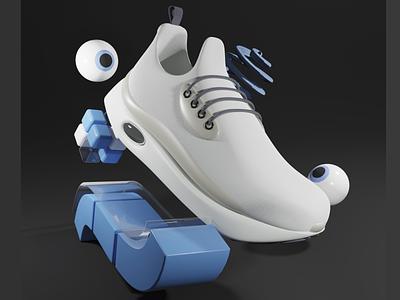 KAUM SNEAKS SALT 3d art 3d illustration webdesign illustration branding logo motion graphics graphic design 3d animation ui