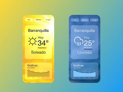 weather app main screen app ui