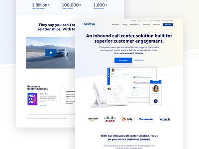 Landing page | Inbound call center gradient vector webdesign web