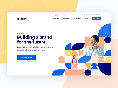 Brand assets hero geometry geometric web design hero brand landing page