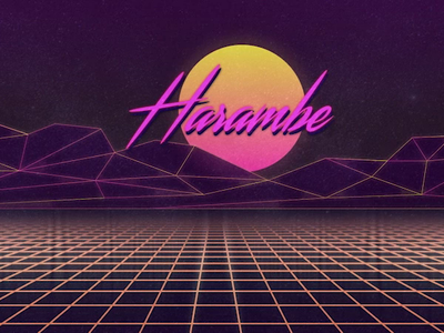 Tribute sun grid video 80s outrun retrowave