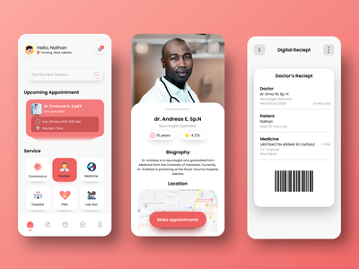 Medical Apps iphone app android app design iphone android doctor app doctor medicine medical app medical branding design ux ui mobile ui mobile design mobile app mobile app