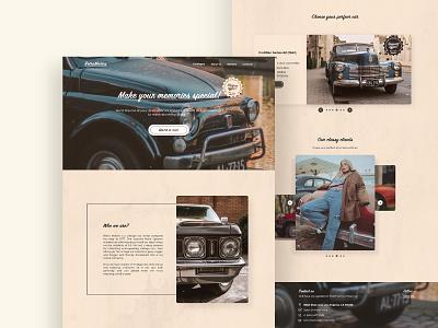 Vintage Car Rental Landing Page web vintage uxui landing page design webdesign