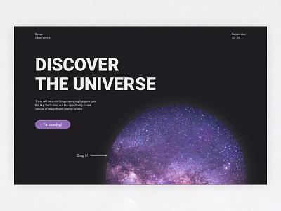 Observatory Promo Website Concept observatory universe space dark theme promo design concept webdesign web uxui uxdesign uidesign