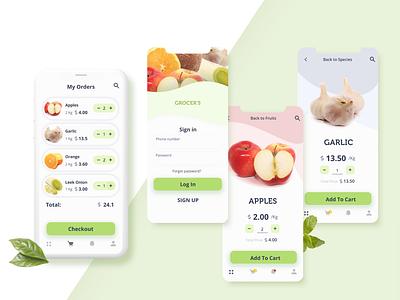 Grocery Delivery App application app design design mobile app app mobile ux ui
