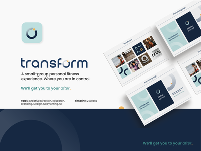 Transform Fitness Case Study typography logo fitness center ui fitness branding visual design brand identity graphic design