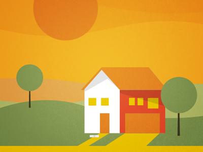Simply Hauss house home sun trees simple fraiche