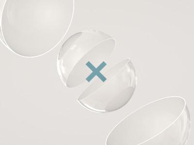 Logo Reveal logo animation intro x lens glass