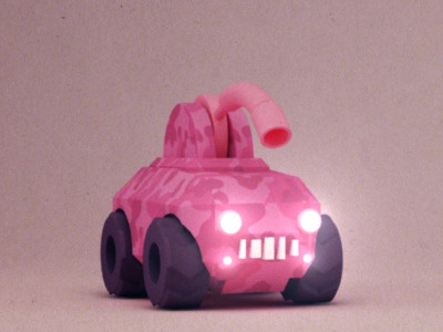 Flaccid Cannon 3d tank cannon pink