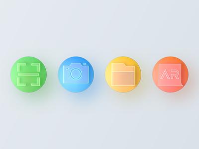 glass icon render icon