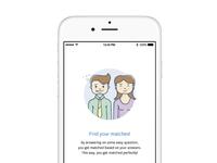 Dating app on boarding illustration