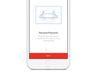 Personalised Postcards app illustration