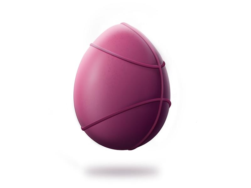 Dribbble Egg easter egg illustration photoshop
