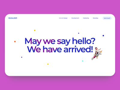 #Welcome - Digital Landing Page germany digital website 2021 modern clean minimal ui ux web illustration design