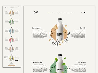 OatMilk Web User Interface design emojis illustration branding uidesign ui design ui  ux uiux ui webdesign website design web design website web minimal