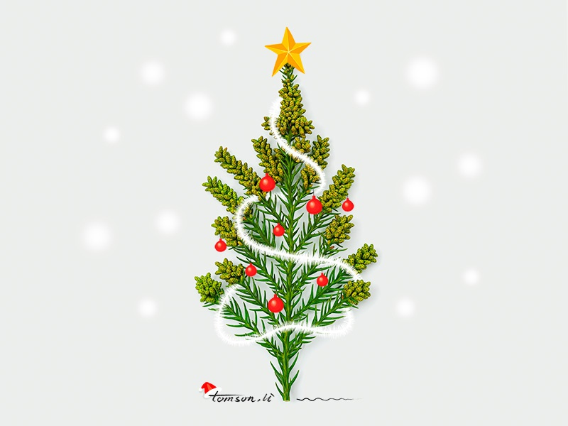 Merry Christmas tomsonli snow christmas tree christmas still life photography creative illustration painting drawing merry christmas