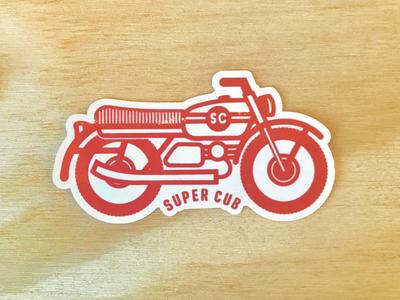 Supercub Moto Sticker
