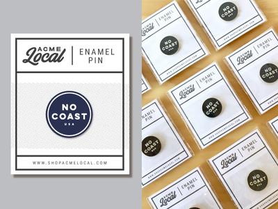 No Coast Enamel Pins!