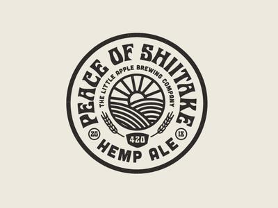 Peace Of Shiitake Badge