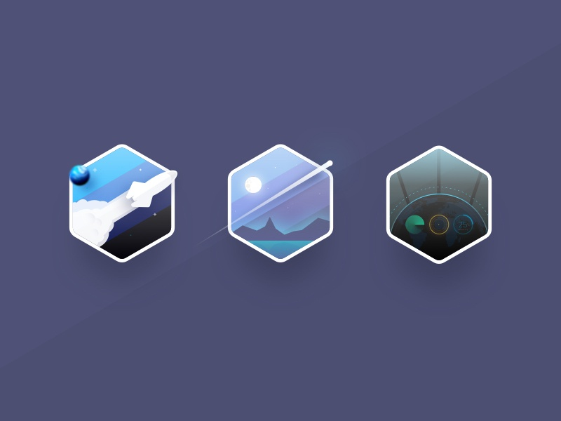 WIP - Iconography for Cisco's Digital Hub galaxy user interface icon library graphic design icons