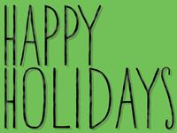 Dribbble Happy Holidays Shot