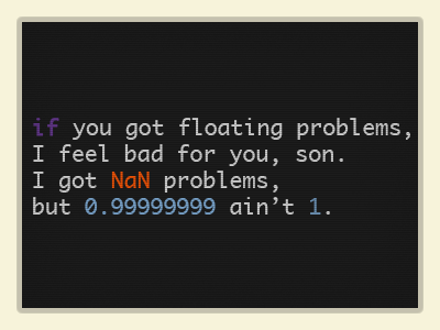 Floating Problems