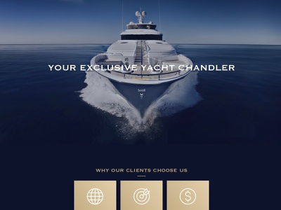 Vectra Marine Supply supply marine ocean boat yacht blue gold page one website