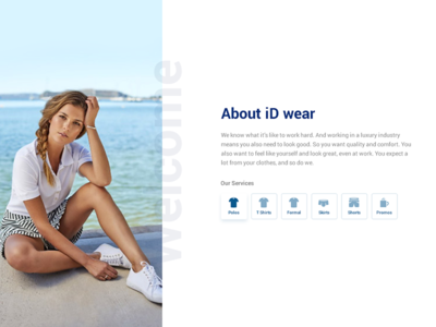 Yacht Clothing Landing Page