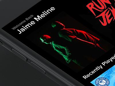 Music Profile mockup iphone dark black red run the jewels photoshop